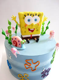 sponge bob cake spongebob and gary cake iced in buttercream with fondant flickr