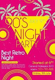 90 u0027s night flyer psd flyer template 8919 styleflyers