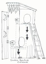 Outhouse Floor Plans by Double Decker Outhouse Cabin