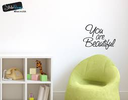 you are beautiful vinyl decal sticker for mirrors or walls boost your you are beautiful vinyl decal sticker for mirrors or walls boost your self esteem with positive thinking 6083