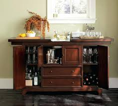 Modular Bar Cabinet Pottery Barn Bar Cabinet Modular Bar Buffet With 2 Glass Door