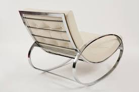 Lucite Rocking Chair Selig Chrome And Leather Rocking Chair Red Modern Furniture