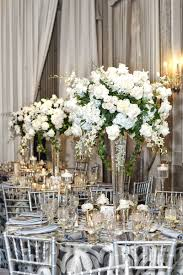 Rose Petal Table Cloth Elegant Ballroom Ceremony Reception In Chicago Illinois