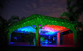light projection technology creates a backyard ceiling of