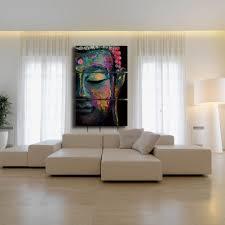Livingroom Art Amazon Com Shuaxin Modern Large Buddha Wall Art Print On Canvas