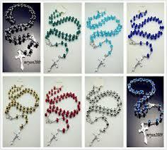 free rosary free rosary faith inri beaded cross pendant clasp necklace