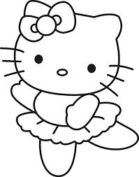 kitty colouring pages christmas print kitty