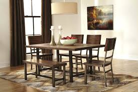 north shore dining room dining chairs ashley furniture dining table with bench ashley