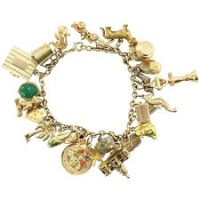 bracelet charm tiffany images Antique 1940 39 s 14k gold loaded 26 charm bracelet w cartier jpg