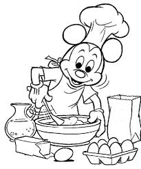 coloriage cuisine coloriage mickey qui cuisine coloriages à imprimer gratuits