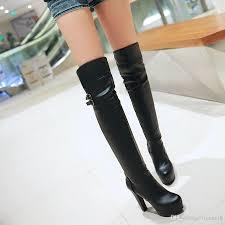 womens boots the knee womens boots 2017 winter shoe high heels boots knee
