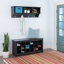 Office Wall Organization System by Amazon Com Black Shoe Storage Cubbie Bench Kitchen U0026 Dining