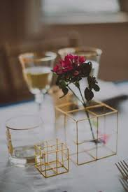 modern centerpieces these geometric centerpieces are for a glam modern affair