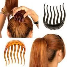 hair clip types black inserts other hair clip bumpits bouffant ponytail hair bun