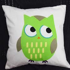 Green Owls Cushion Cover For Kids Room Decorative Pillowcase Sofa
