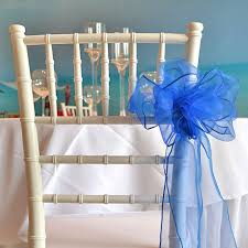 royal blue chair sashes organza chair sash royal blue faraway event rentals koh samui