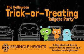 halloween trick or treating tailgate party at seminole heights