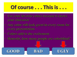 How Many People Are Color Blind The Good The Bad And The Ugly Powerpoint Basics Joanne Gilden
