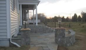 Patio Pillar Lights Flagstone Patios And Walkways American Exteriors Masonry