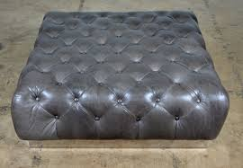 tufted leather coffee table ottoman mecox gardens