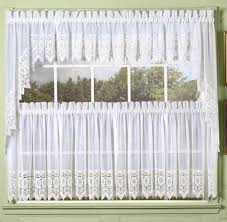 Lace Curtains And Valances White Diana Macrame Lace Tailored Curtain Altmeyer U0027s Bedbathhome