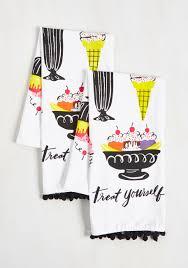 we all dream of ice cream tea towel set this vibrant pair of