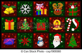 stock illustration of christmas symbols collage csp1909360