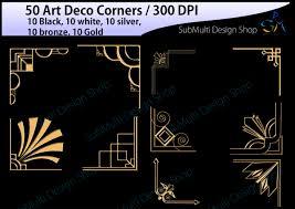 halloween corners transparent background art deco art deco corners art deco design bundles