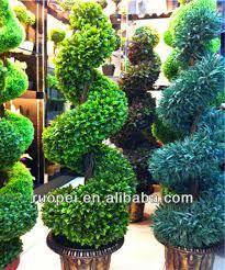 artificial ornamental plants big trees boxwood topiary spiral tree
