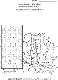 multiplication worksheets 6 worksheets