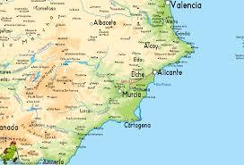 Valencia Spain Map by La Senda Del Poeta
