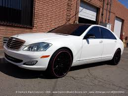 mercedes white mercedes benz s550 wrappd in sain white by dbx diamond black