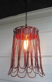 Etsy Pendant Light Upcycled Waste Paper Basket Pendant Light On Etsy