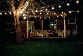 hanging outdoor string lights elegant how to hang outdoor patio string lights or creative outdoor