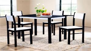 wooden dining table and 4 chairs set in wenge white rubber wood