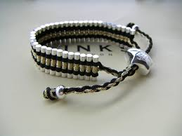 link friendship bracelet images Trap cut links of london friendship bracelet black and gold jpg