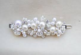 barrette hair clip bridal pearl handmade small hair clip bridal hair clip