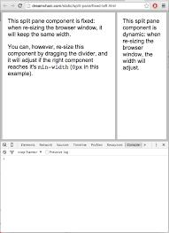 split layout js split pane jquery plugin dreamchain