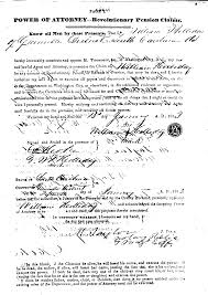 Sample Power Of Attorney To Sign Documents by Revolutionary War Pension Application For William Holliday