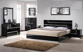 modern bedroom sets king amazon com modern barcelona 4 piece bedroom set california king