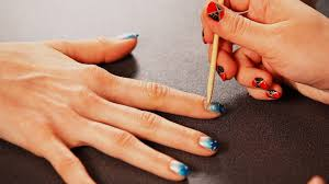 how to add sand to a beach nail design diy nail art youtube