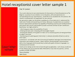 8 hotel receptionist cover letter parts of resume