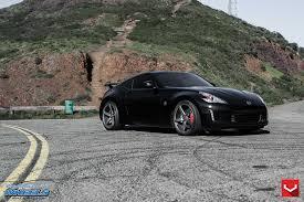 custom nissan 370z menacing black nissan 370z customized to amaze u2014 carid com gallery