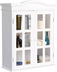 wall mounted kitchen display cabinets tangkula wall mounted storage cabinet collection storage cupboard with adjustable shelf two and delicate acrylic doors ideal for kitchen