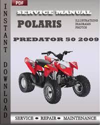 polaris predator 50 outlaw 90 2009 service manual pdf repair