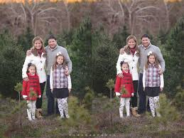 christmas tree farm session st louis family photographer