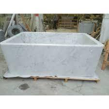 carrara white marble bathtub rectangular