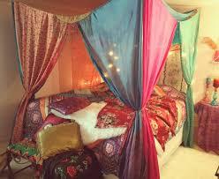 Boho Bed Canopy Boho Room Decor Diy Bedroom Hippie Hippy Store Decorations