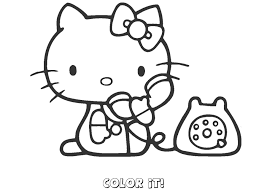 hello kitty coloring pages to color online coloring pages online