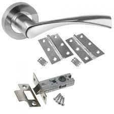 Interior Door Latch Hardware Chrome Door Handle Packs Latch Lock Bathroom Regarding